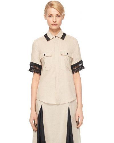 Блузка с бахромой на пуговицах Toga Pulla
