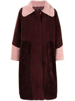 Красная длинная шуба из искусственного меха оверсайз Unreal Fur