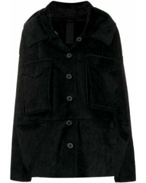 Черная куртка с капюшоном двусторонняя на пуговицах Rundholz Black Label