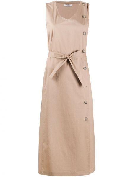 Платье на пуговицах с рукавами Peserico