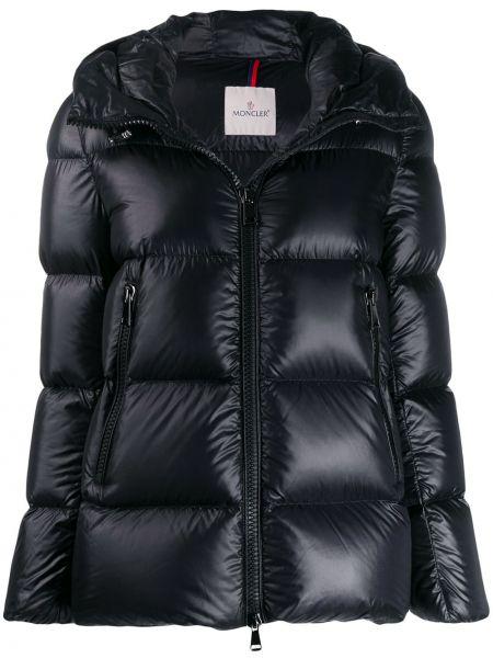 Куртка с капюшоном черная на молнии Moncler