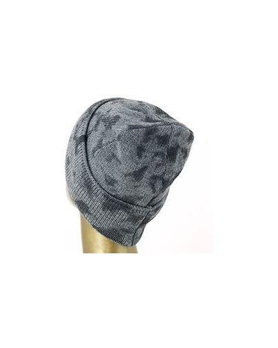 Акриловая серая шапка Emporio Armani