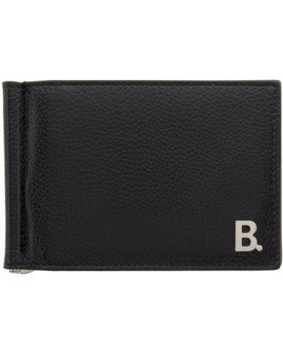 Черный кожаный кошелек с подкладкой Balenciaga