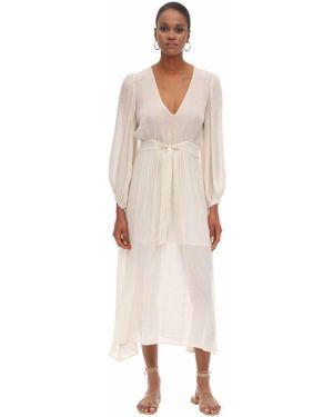 Платье макси с V-образным вырезом с поясом Lautre Chose