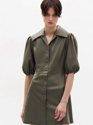 Зеленое кожаное платье Lime