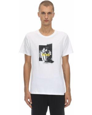 Biały t-shirt bawełniany z printem Dim Mak Collection
