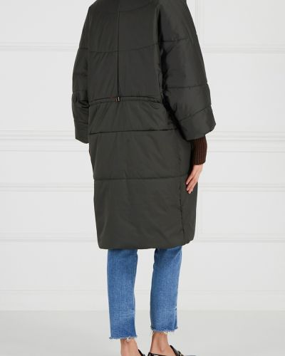 Пальто оверсайз зеленое Novaya