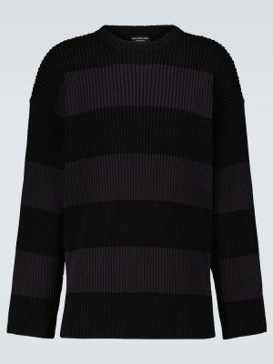 Sweter w paski - czarny Balenciaga
