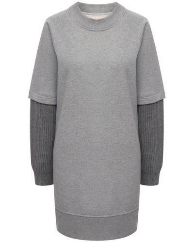 Хлопковое платье - серое Mm6