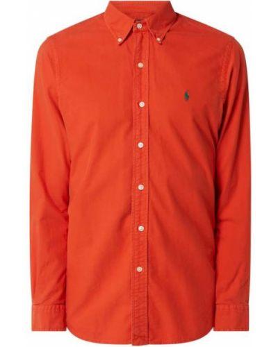 Bawełna puchaty pomarańczowy koszula oxford z mankietami Polo Ralph Lauren