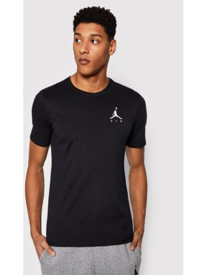 Czarny t-shirt z haftem Nike