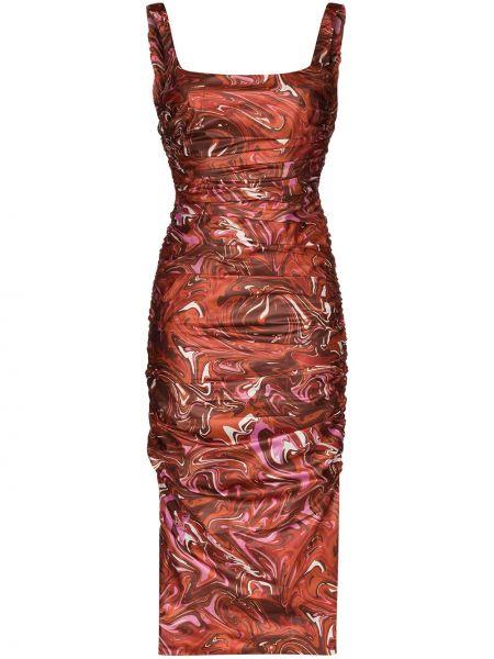 Платье миди с открытой спиной с принтом Maisie Wilen
