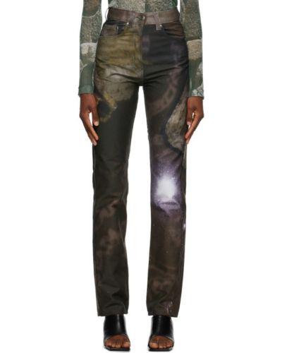 Niebieski jeansy na wysokości z kieszeniami z łatami Serapis