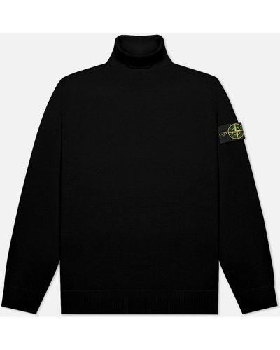 Черный шерстяной свитер Stone Island