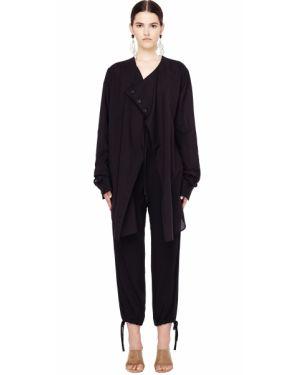Хлопковая блузка - черная Yohji Yamamoto