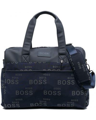 Синяя косметичка с заплатками с карманами Boss Kidswear