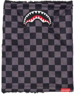 Czarny szalik z haftem Sprayground
