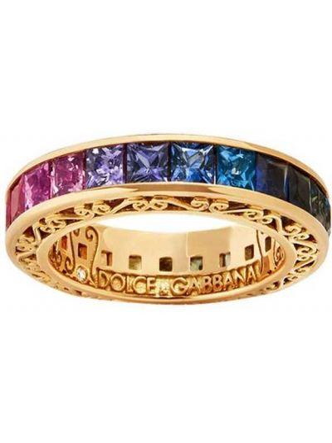 Кольцо с бриллиантом - желтое Dolce & Gabbana