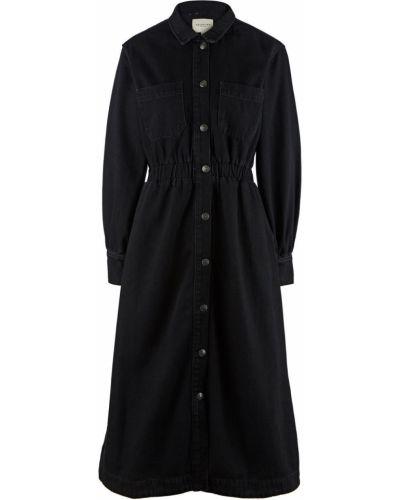 Черное джинсовое платье Selected