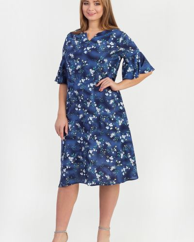 Платье с оборками синее Lacywear