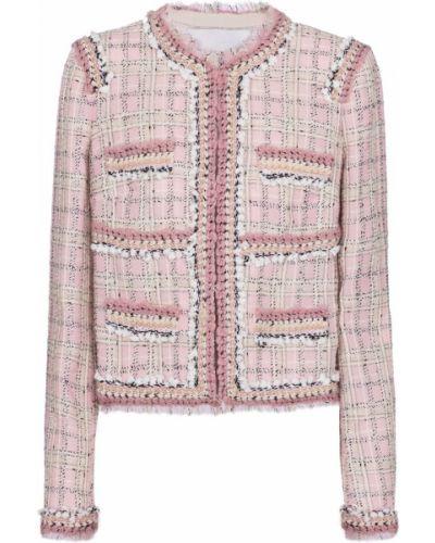 Шерстяная ватная розовая куртка Giambattista Valli