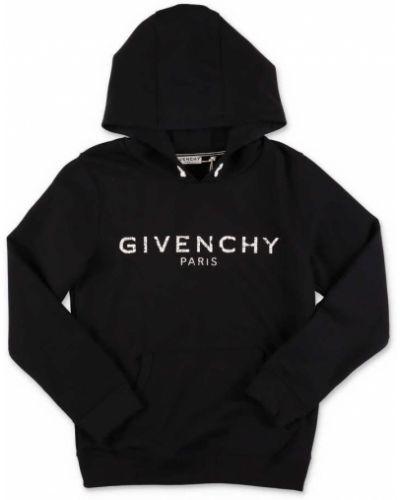 Czarna bluza z kapturem vintage Givenchy