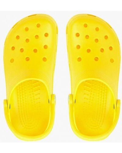 Желтые сандалии Crocs