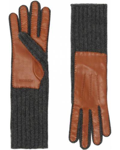 Перчатки серые Burberry