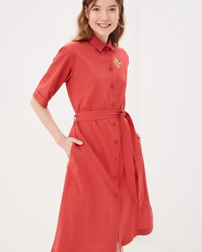 Платье платье-рубашка красный Maison De La Robe