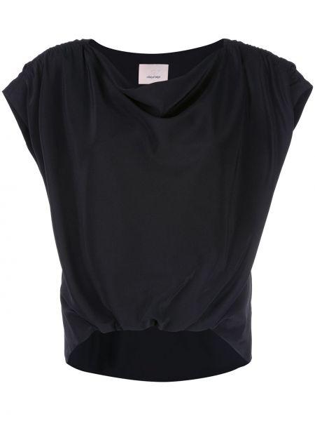 Блузка с коротким рукавом батник шелковая Cinq A Sept