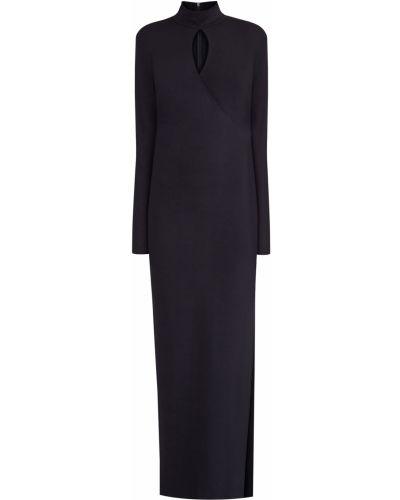 Вечернее платье с длинными рукавами - черное Alexander Terekhov