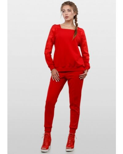 Красный спортивный костюм O&j