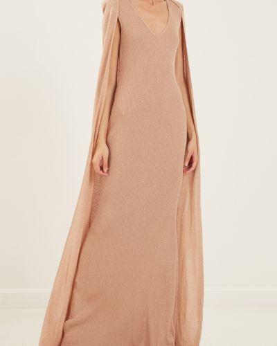 Платье макси розовое на одно плечо Elisabetta Franchi