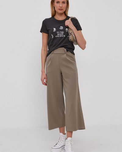 Szare spodnie dzianinowe Jacqueline De Yong