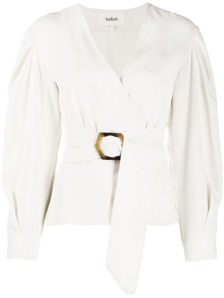 С рукавами блузка с длинным рукавом с V-образным вырезом с манжетами на пуговицах Ba&sh