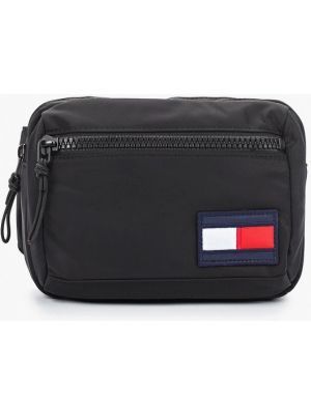 Поясная сумка текстильная черная Tommy Hilfiger