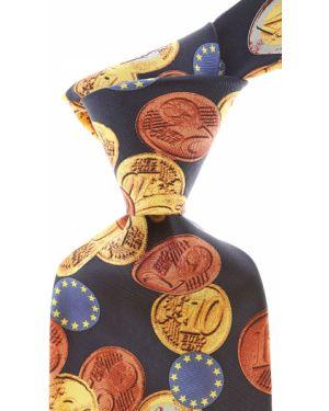 Złoty krawat - niebieski Raffaello