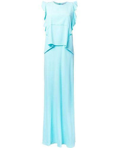 Платье с оборками зеленый Carven