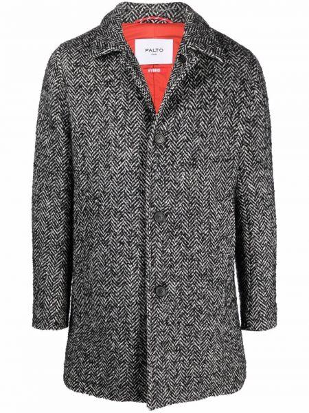 Czarny płaszcz wełniany Palto