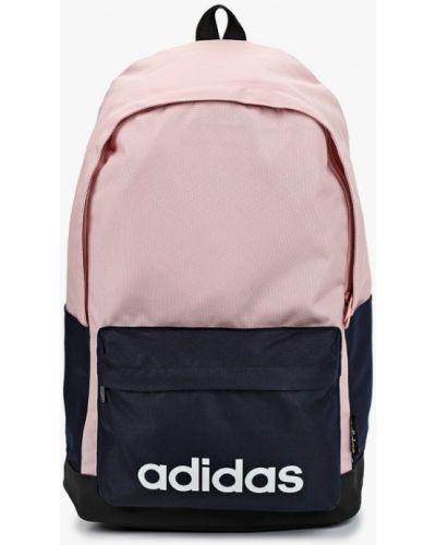Розовый текстильный рюкзак Adidas