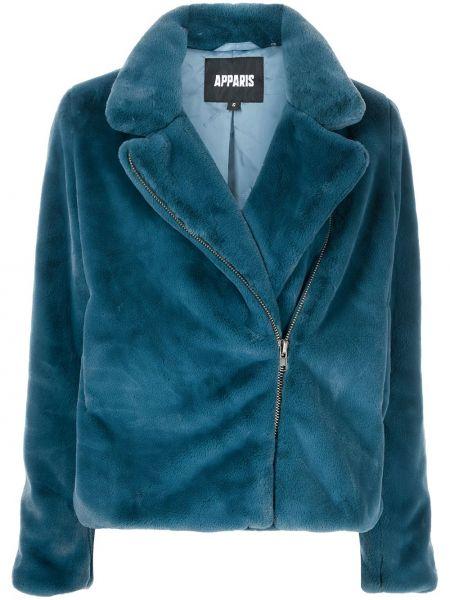 Niebieski długi płaszcz Apparis