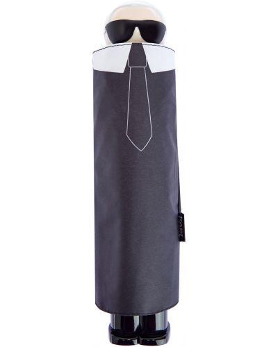 Черный зонт металлический с аппликациями Karl Lagerfeld