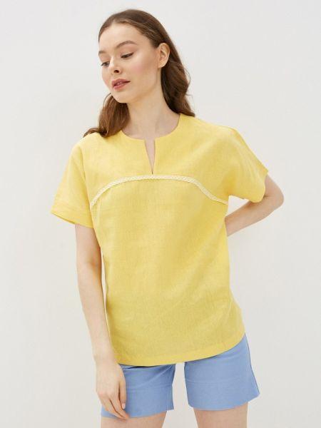 Блузка с коротким рукавом весенний желтый Gabriela