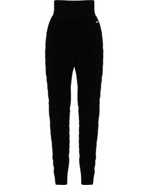 Черные брюки с поясом свободного кроя с высокой посадкой Free Age