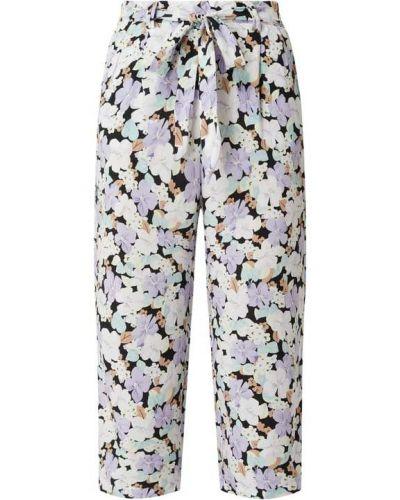 Fioletowe spodnie z wiskozy Only