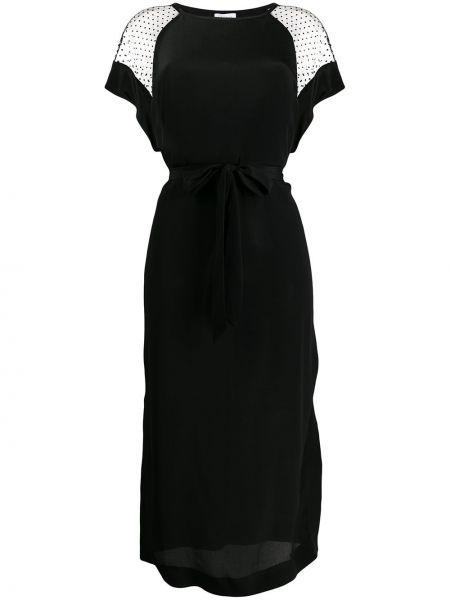 Шелковое платье мини - черное Escada Sport