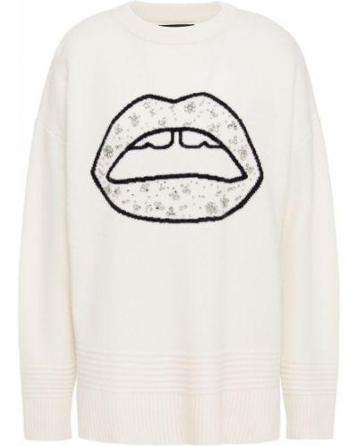 Шерстяной белый свитер Markus Lupfer