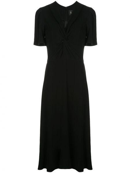 Приталенное платье миди - черное Nicole Miller