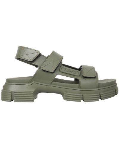 Zielone sandały Ganni