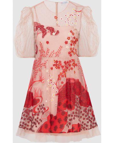Светло-розовое платье мини Red Valentino